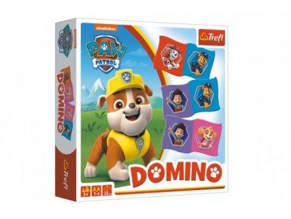 Domino papírové Paw Patrol/Tlapková patrola 28 kartiček společenská hra
