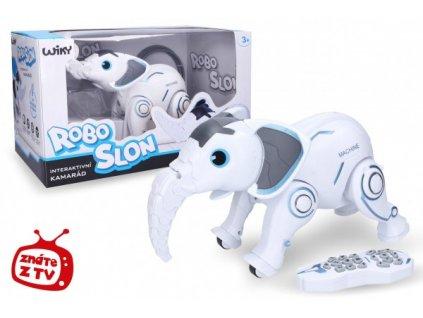 Robo-slon RC na baterie + dobíjecí pack se světlem se zvukem