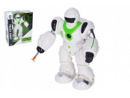 Robot chodící na baterie se zvukem se světlem