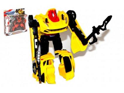 Transformer auto/robot s doplňky 4 druhy