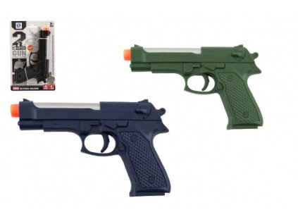 Pistole na baterie se světlem se zvukem 3 barvy