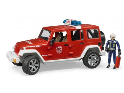 Bruder 2528 Jeep Wrangler Rubicon hasiči s figurkou 2