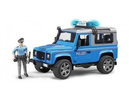 Bruder 2597 Policejní Land Rover Defender + policista a maják 7