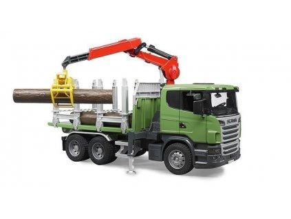 Bruder 3524 Nákladní auto Scania na přepravu dřeva 8