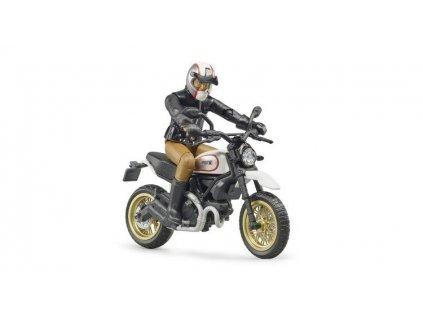 Bruder 63051 motocykl Scrambler Ducati Desert Sled + figurka 2