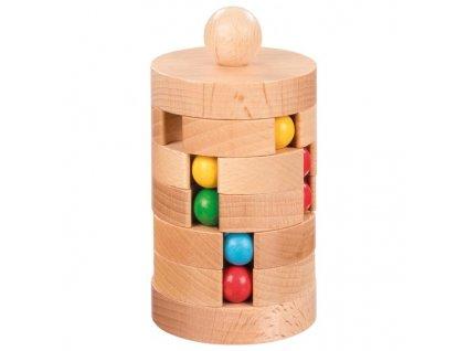Kuličkový hlavolam ze dřeva – logická hra 1