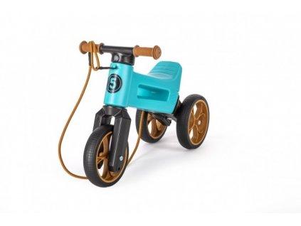 Odrážedlo FUNNY WHEELS Rider SuperSport tyrkys 2v1+popruh