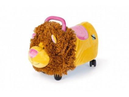 Odrážedlo FUNNY WHEELS Rider Ride-On lvíček 50cm  plyšový růžový v krabici