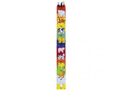 Dětský dřevěný metr – zvířátka, 100 cm 1