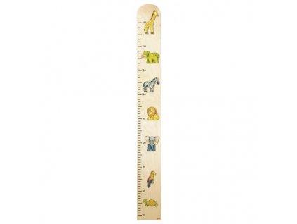 Dětský dřevěný metr – zvířátka, 90 cm