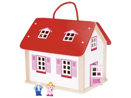 Přenosný domeček pro panenky s vybavením, 24 díly 1