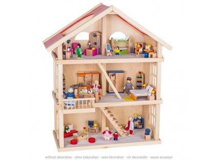 Velký domeček pro panenky – 3 poschodí 2