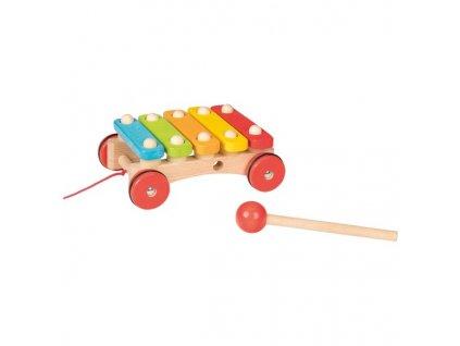 Xylofon na kolečkách – tahací hračka na provázku 1