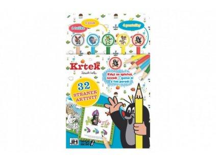 Aktivity Krtek s 1 tužkou, 5 gumami, 4 pastelkami
