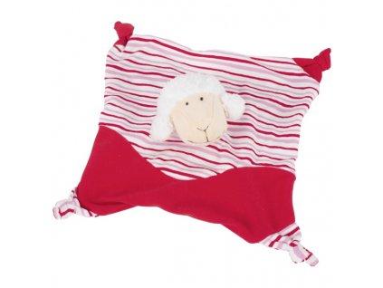 Mazlíček usínáček ovečka, červená