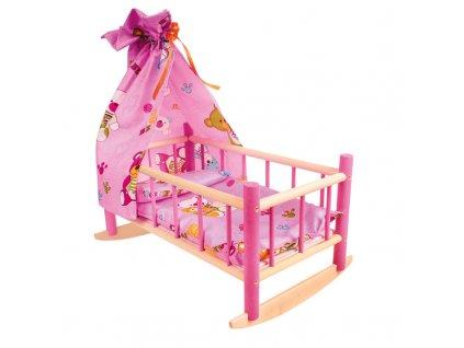 Dětská kolébka pro panenky dřevěná