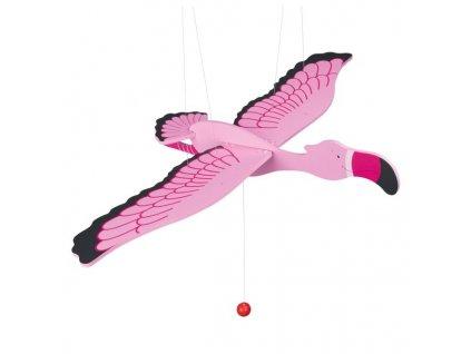 Růžový plameňák - létající závěsná dekorace