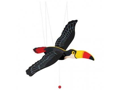 Tukan - létající závěsná dekorace