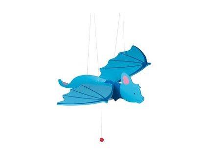 Modrý netopýr - létající závěsná dekorace