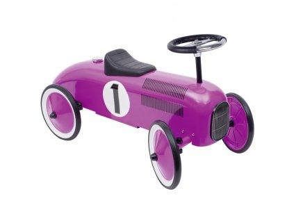 Odrážedlo - odstrkovadlo růžová závodnička, gumová kola