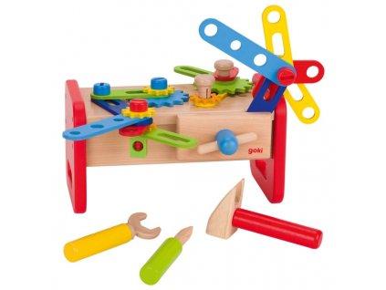 Dřevěný stolek - ponk pro děti, 36 dílů