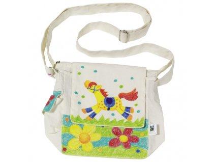 Fair trade výrobek Bavlněná taška přes rameno k vymalování
