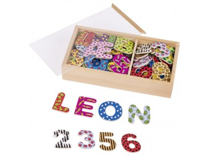 Magnetky se vzory - písmena a čísla, 88 dílů
