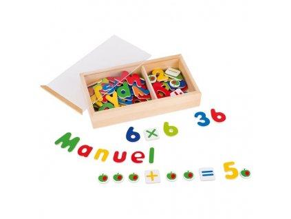 Magnetky - čísla a písmena