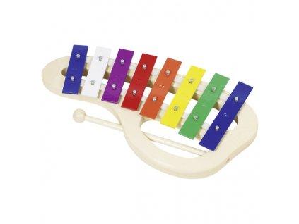 Xylofon barevný 8 tónů 32 cm