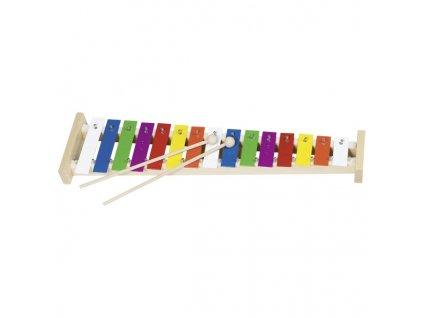 Xylofon duhový 15 tónů + noty 42 cm