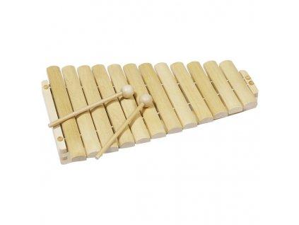 Xylofon dřevěný 12 tónů 35 cm