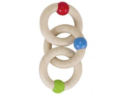 Tři kroužky - hračka do ručky