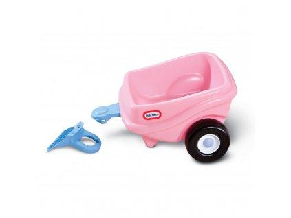 Little Tikes vozík ke Cozy Coupe růžový 621451