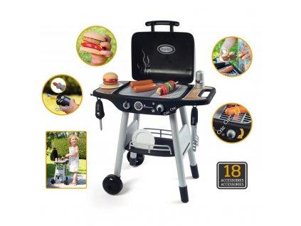 Smoby Grill Barbecue s mechanickými funkcemi a zvukem a 18 doplňky 13