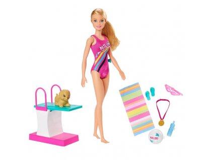 Mattel Barbie Plavkyně s pejskem 4