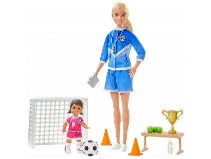 Barbie fotbalová trenérka s panenkou herní set blond trenérka 6