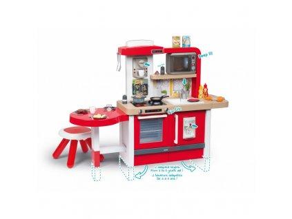 Smoby Dětská kuchyňka mini Tefal Evolutive Gourmet + Taburet 9