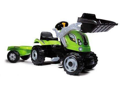 Smoby Traktor Farmer XL zelený se lžící