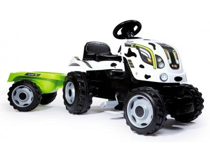 Smoby Traktor Kravička Farmer XL s přívěsem