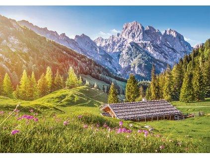 Puzzle Léto v Alpách 500 dílků 1