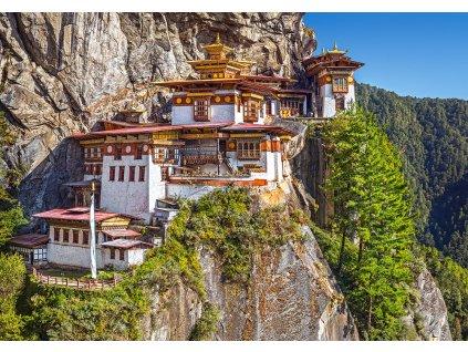 Puzzle Výhled na Tygří hnízdo v Bhútánu 500 dílků 1