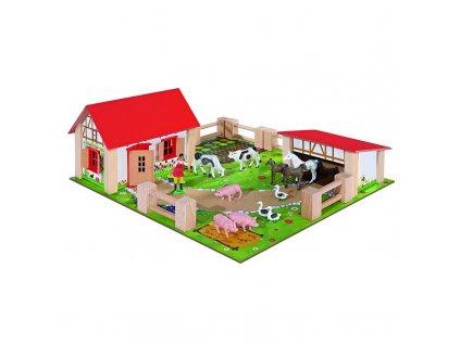 Eichhorn Farma dřevěná 23 dílů 6