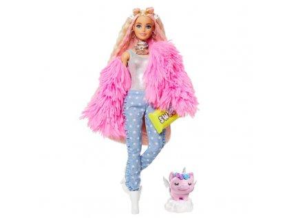 Barbie extra v růžové bundě 6