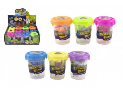Výroba slizu/hmoty mini sada vědecká hra 6 barev v plastové dóze 5,5x7cm 12ks v boxu