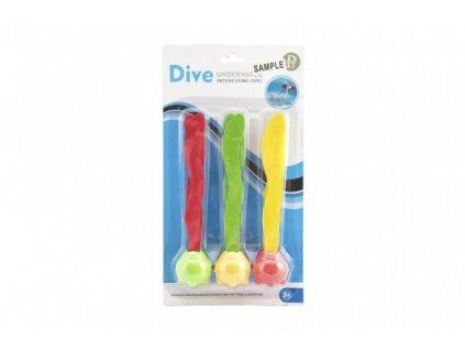 Zábavné míčky pro potápění 3ks