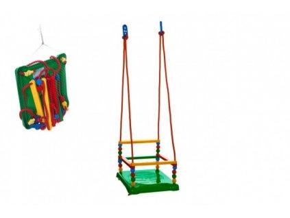 Houpačka plast 35x34cm zelená nosnost 40kg v síťce