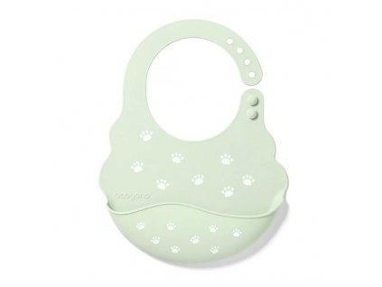 Nastavitelný silikonový bryndák s kapsičkou Baby Ono zelený
