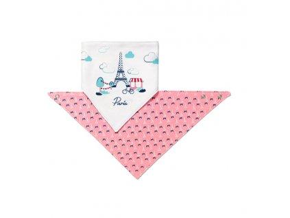BABYONO Slintáček malý, Paříž růžový