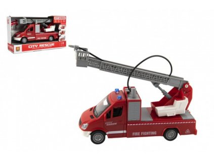 Auto hasiči na setrvačník na baterie se zvukem a světlem