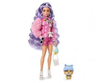 Barbie Extra s vlnitými fialovými vlasy 4